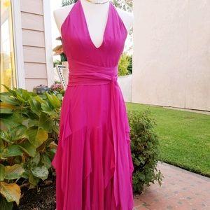 BCBG Maxazria Collection Halter Maxi Dress